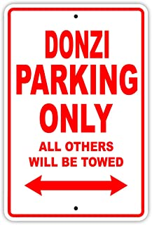 Donzi Parking Only All Others Will Be Towed Boat Ship Yacht Marina Lake Dock Yawl Craftmanship Metal Aluminum 12
