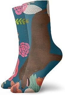 Nother, Labradors Florals - Calcetines cortos unisex cómodos y ligeros