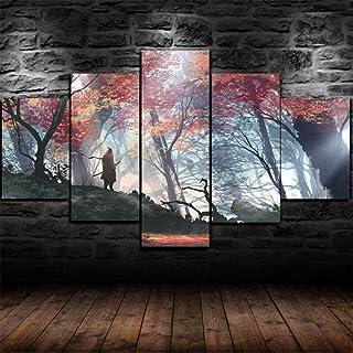 YOPLLL 5 Teilig Leinwand Wanddeko Gerahmtes Malerei Leinwanddrucke Geschenk 5 St/ück Leinwand Bilder Moderne Wandbilder XXL Wohnzimmer Wohnkultur Anime Youjo Senki
