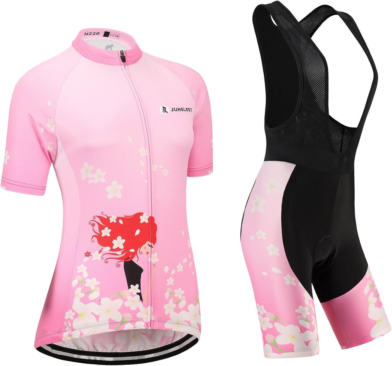 Cycling jersey Set, Maillot de Cyclisme Women Femme Short sleeve Manches Courtes(S5XL,option bib Cuissard,3D pad Coussin) N226