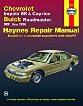 Chevrolet V8, Impala SS, Caprice & Buick Roadmaster (91-96) Haynes Repair Manual (Does not include information specific to V6 models. Includes vehicle ... exclusion noted) (Haynes Repair Manuals)
