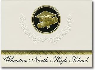 Signature Announcements Wheaton North High School (Wheaton, IL) Graduation Announcements, Presidential style, Elite packag...