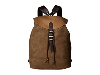 Filson Small Rugged Suede Backpack (Canteen Brown) Backpack Bags