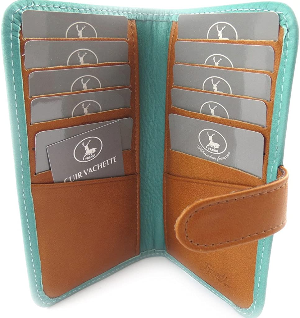 Fort Worth Mall Leather cardholder 'Frandi' camel Time sale turquoise.