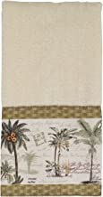 Avanti Linens 036684IVR Colony Palm Finger Towel, Medium, Ivory