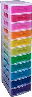 Really Useful Boîte de rangement 11litre tiroir de tour–Clair/Rainbow (lot de 7)