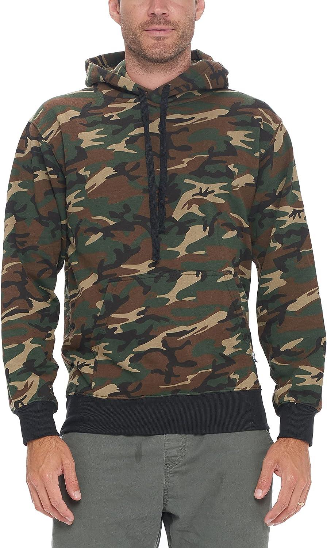 ProGo USA Men's Heavyweight Sweatshirt Pullover Max 55% Denver Mall OFF Hoodie