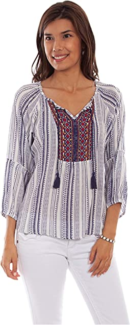 Lily Light and Airy Peasant Top