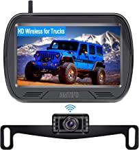 $79 » AMTIFO W3 HD Digital Wireless Backup Camera with Monitor Kit,Hitch Rear View Camera for Trucks,Cars,SUVS,Campers,DIY Guide...