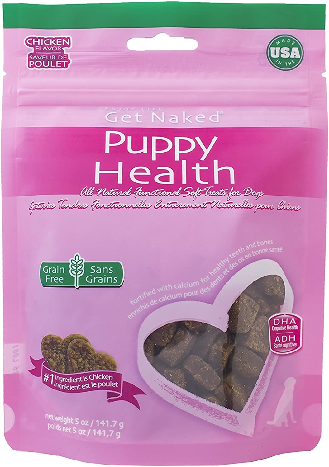 (6 PACK) NBone 201578 Get Naked Grain Free Package, 5.0 oz per Pouch, Puppy Health Soft Dog Treat, Recommended for Dogs from 5 Lbs and More
