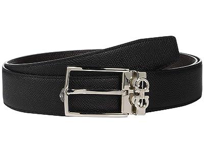 Salvatore Ferragamo Adjustable/Reversible Belt 67A037 (Black/T. Moro) Men