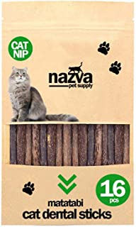 NAZVA Pets Supplies Silvervine Matatabi Sticks - 16 pcs - 32 pcs - 64 pcs - Natural Toothbrush Catnip Toy Chew Toy and Dental Organic Treat
