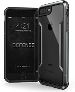 iPhone 8 Plus, iPhone 7 Plus, iPhone 6 Plus Case, X-Doria Defense Shield - Military Grade Drop Tested, Anodized Aluminum, TPU, Polycarbonate Protective Case for Apple iPhone 8,7,6 Plus (Black)