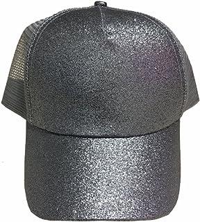 5faf6929bc949 MeiQing Ponytail Cap Glitter Baseball Hat Trendy Messy Buns Trucker Visor Cap  Sun Hat