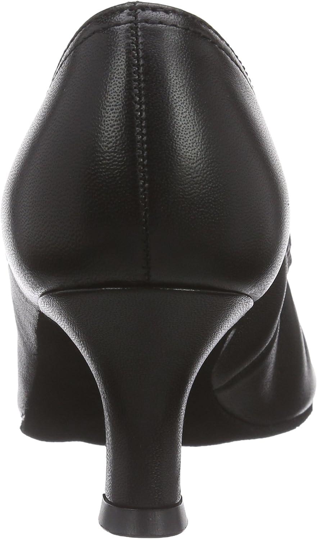 Diamant dames standaard dansschoenen 069-068-034, standaard & latijn zwart (zwart)