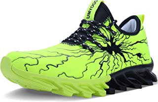 ALLCHAR Men's Fashion Graffiti Running Sneakers Personality Breathable Walking Casual Shoes