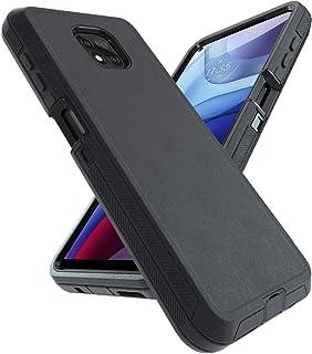 Moto G Power Case 2021 Full-Body Heavy Drop Protection Shock Cover for Motorola Moto G Power Case (Black)