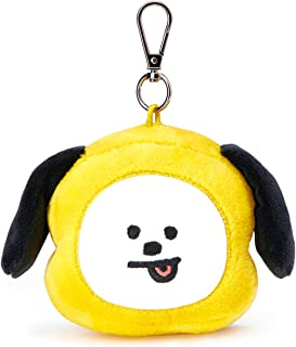 LINE FRIENDS BT21 Official Merchandise CHIMMY Character Doll Face Keychain Ring Cute Handbag Accessories