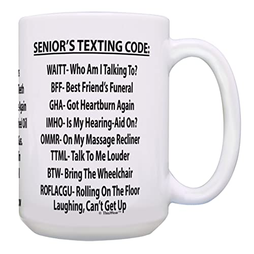 Funny 65th Birthday Gifts Seniors Texting Code Senior Citizen For Dad Or Mom 15
