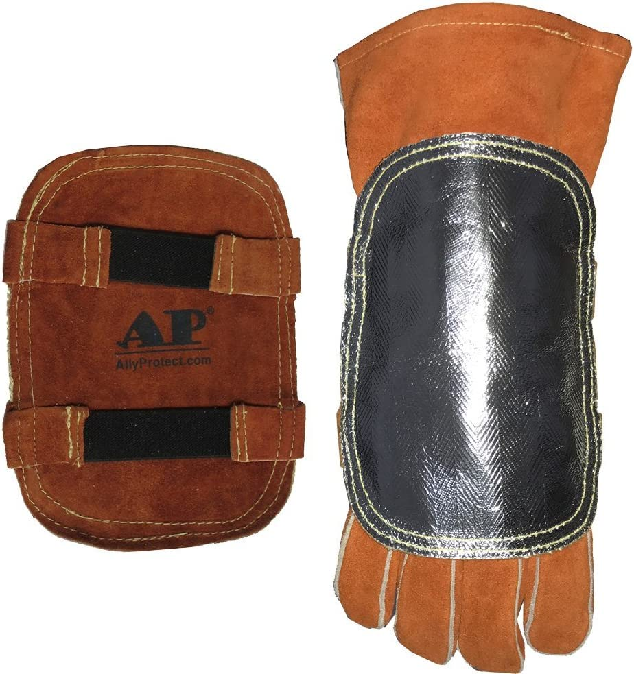 Sales for sale Welding Gloves' Pad High NEW before selling Heat Cowhid Aluminized Protection
