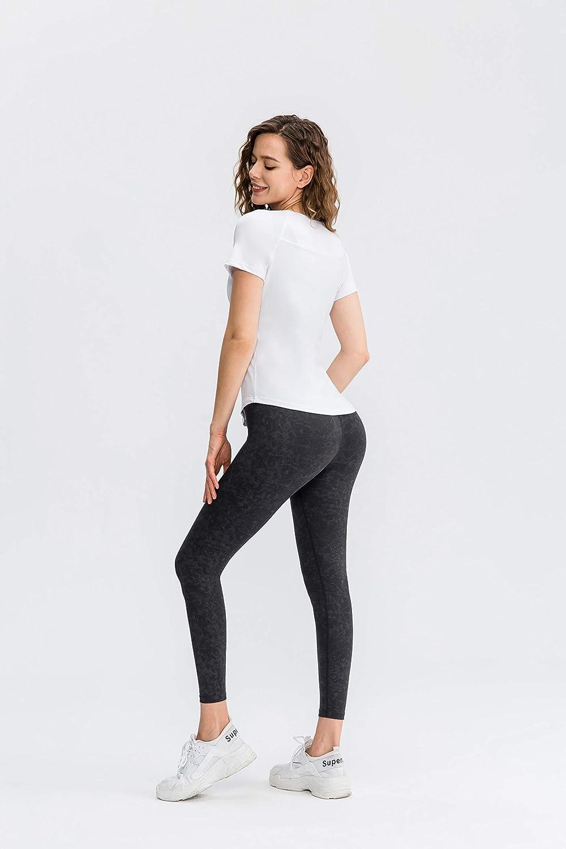 UOUA Seamless Workout Tops for Women Quick Dry Short Sleeve Cool Shirts Moisture Wicking Tees Running Yoga Sweatshirts