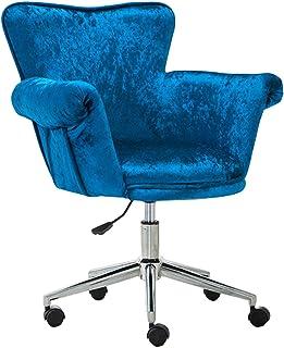 Escritorio ergonómica silla giratoria Silla de oficina giratoria con brazos Soporte lumbar Silla de computadora de oficina ajustable para dormitorio de niña Sala de estudio Altura del asiento: 44-52