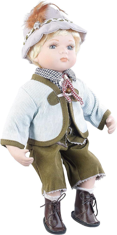 PEARL Deko-Puppe  Sammler-Porzellan-Puppe Anton mit bayerischer Tracht, 36 cm (Sammelpuppe) B07KCHRYGR Creative | Ausgezeichnete Qualität