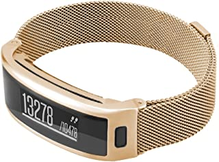 C2D JOY Milanese Bands for Garmin vivosmart HR/HR+Plus Replacement Bands Activity Tracker Watch Band with Metal Steel Case (NO Tool) - 3 Colors, Small/Large