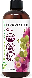 Grapeseed Oil Pure Carrier Oil - Cold Pressed Grape Seed Extract Carrier Oil for Essential Oils Mixing Natural Body Oil fo...