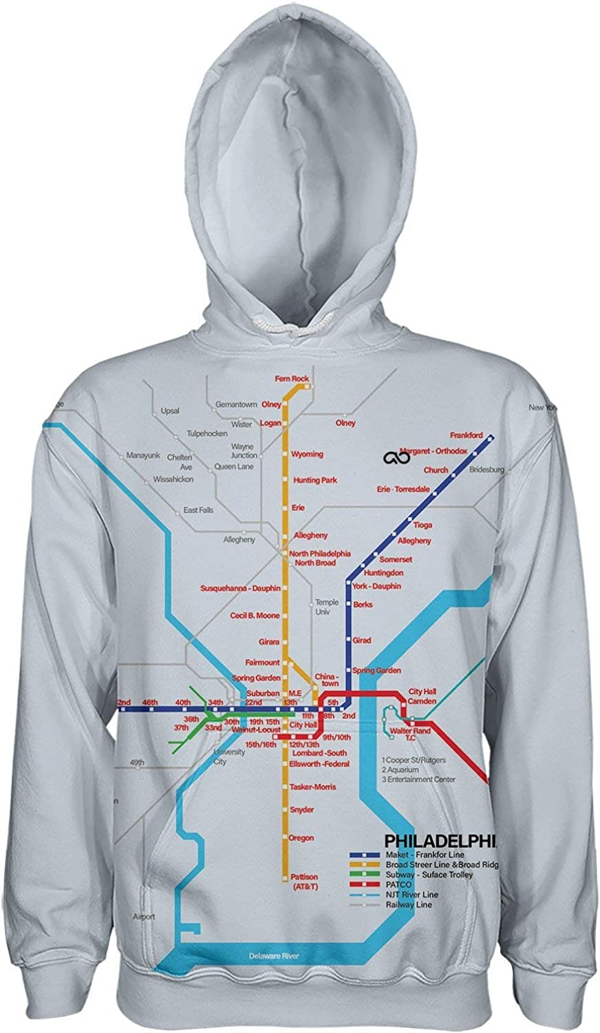 Philadelphia Subway Hoodie Pullover Factory outlet New Shipping Free Shipping