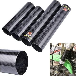 PRO CAKEN Carbon Fiber Front Fork Tube Set Slider Cover Wrap Guard for Dirt Pit Bike Motocross CRF250R CRF450R CRF250X CRF450X YZ125 YZ250 YZ250F YZ450F YZ250X YZ250FX WR250F WR450F KX450F KLX450R