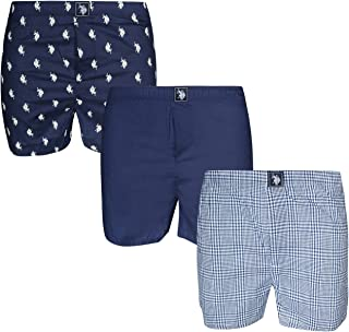 Men's Woven Boxer Underwear with Functional Fly (3 Pack)
