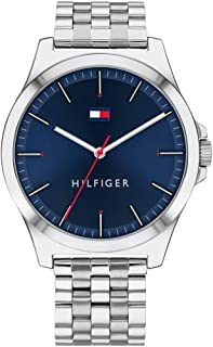 Tommy Hilfiger Men's Quartz Watch with Stainless Steel Strap, Silver, 20 (Model: 1791713)