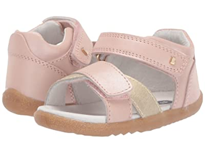 Bobux Kids Step Up Sail Sandal (Infant/Toddler) (Blush/Gold 1) Girl