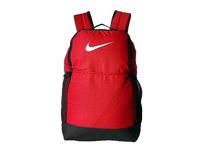 Nike Brasilia Medium Backpack 9.0 (University Red/Black/White) Backpack Bags