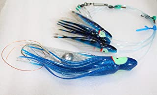 Ancient Mariner Tackle Ballyhoo Bait Rig- Blue and Silver with Daisy Chain for Tuna, Mahi, and Wahoo