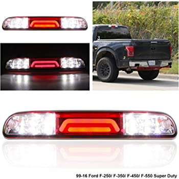 Black Housing Clear Lens Sanzitop LED 3rd Brake Light Rear Brake Light Compatible with 99-16 Ford F250 F350 F450 F550 Super Duty 93-11 Ford Range 01-05 Ford Explorer Sport Trac 94-10 Mazda