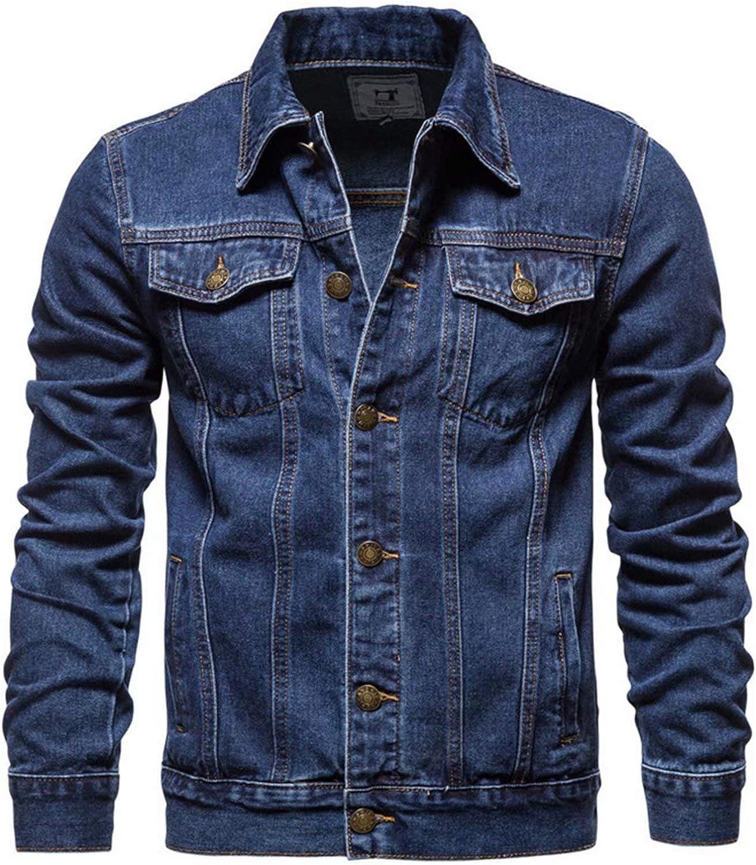 Men's denim jacket cotton m casual slim Cheap sale Cheap mail order shopping