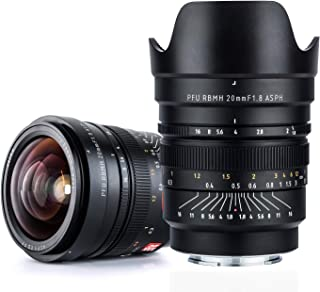 VILTROX フルフレーム広角レンズ FE-20mm f1.8 MF マニュアルフォーカス固定焦点 F1.8大口径 ソニーEマウントカメラ ソニーA7シリーズ A6300 A6500 A6000 NEX5用