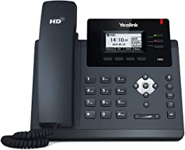 Yealink T40G IP Phone, 3 Lines. 2.3-Inch Graphical LCD. Dual-Port Gigabit Ethernet, 802.3af PoE, Power Adapter Not Included (SIP-T40G) (Renewed)