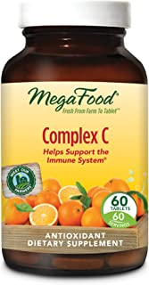 MegaFood - Complex C, Supports Immunity and Well-being with Rosehips and Orange, Vegan, Gluten-Free, Non-GMO, 60 Tablets