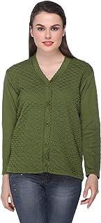 eWools Women's Wool V-Neck Sweater