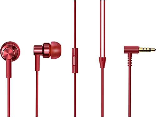Xiaomi Redmi Hi-Resolution Audio Wired Headphone with Mic (Red, in The Ear)