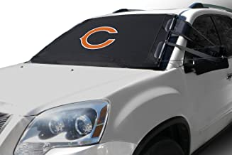 Frostguard NFL Premium Winter Windshield Cover for Ice and Snow, Chicago Bears | Standard Size Car Windshield Cover, Black | Fits Most Compact Cars, Sedans, Small Trucks, SUVs – 60 x 40 Inches