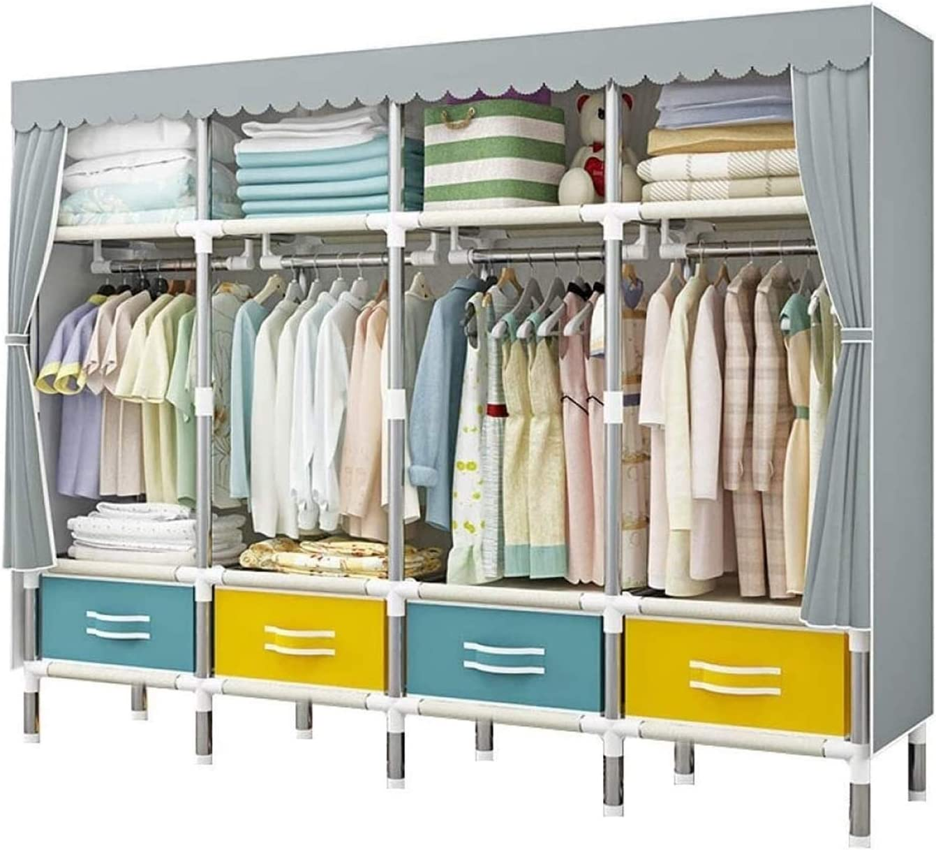 LLCY Portable Closet At the price 2021new shipping free Cloth Wardrobe Bedroom for