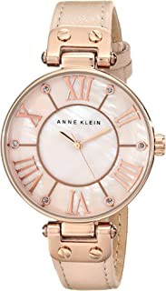 Anne Klein Dress Watch For Women Analog Leather