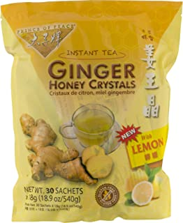 Prince of Peace Instant Lemon Ginger Honey Crystals (30 Sachets) Pack of 2