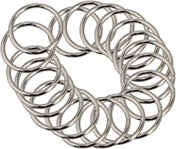 20pcs 3.8cm Multi-Function Rounded Silver Metal Adjusting Buckle Webbing Slide Triglides for Strap Keeper Leathe-rcraft Bag Belt