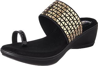 Catwalk Golden Leather Slip on for Women's
