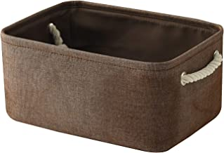 TheWarmHome Storage Basket Fabric Storage Bin Shelf Basket Dog Toy Storage Basket Baby Storage Basket Canvas Storage Baske...